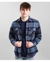 Brixton Bowery Flannel Shirt - Blue