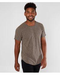 Rustic Dime Scalloped Slub Knit T-shirt - Brown