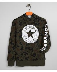 Converse Boys - Signature Camo Hooded Sweatshirt - Green