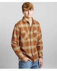 Brixton Bowery Flannel Shirt - Brown