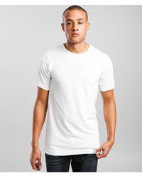 Rustic Dime Velvet Long Body T-shirt - White