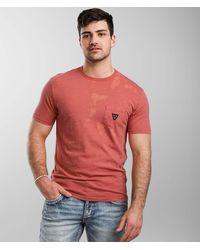 Vissla Capsized Chest Pocket T-shirt - Red