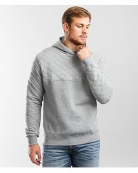 Tentree Quilted Knit Hooded Sweatshirt - Gray