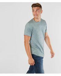 Rustic Dime Long Body Scallop T-shirt - Blue
