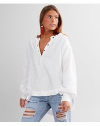 Free People Beach Day Henley Pullover - White