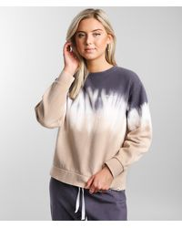 Hurley Double Dip Dye Crew Sweatshirt - Gray