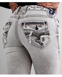 Rock Revival Sepia Mid-rise Skinny Stretch Jean - Gray