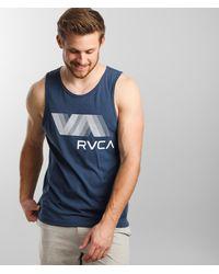 RVCA Va Blur Sport Tank Top - Blue