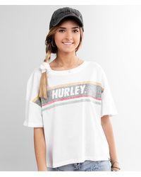 Hurley Sporty Stripes T-shirt - White