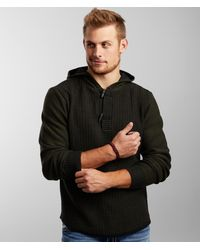 BKE Summit Hooded Toggle Henley Sweater - Green