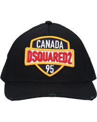 DSquared² Snapback Cap Baseball Gabardine - Black