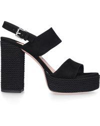Roberto Festa Platform Sandals Florenne - Black