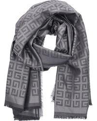 Givenchy Scarf Bg00b7 Silk - Grey