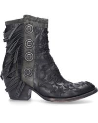Mexicana Boots With Fringes Mamacita 7 - Black