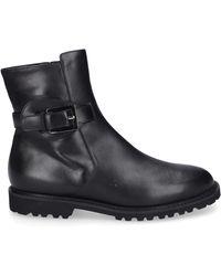 Unützer - Ankle Boots 8750 Lambskin Decorative Buckle Logo Black - Lyst