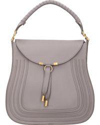 Chloé Taschen Handtasche MARCIE HOBO Kalbsleder - Grau