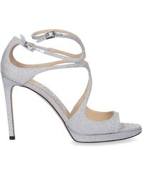 Jimmy Choo Glitter Leather Stiletto Court Shoes - Grey
