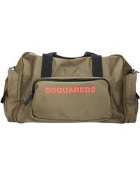 DSquared² Unisex Sports Bag Duffle Bag Nylon Logo Green