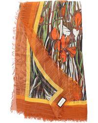 Gucci Scarf Sl Felins Gard Wool - Orange