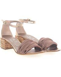 Agl Attilio Giusti Leombruni - Sandals D631052 Satin Bronze Leather Metallic - Lyst