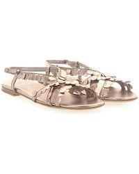 Agl Attilio Giusti Leombruni - Sandals D622030 Leather Metallic Bronze - Lyst