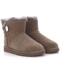 efedb6fa62e Ankle Boots Grey Mini Bailey Button Bling - Gray