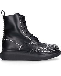 Alexander McQueen Hybrid Stud-embellished Boots - Black