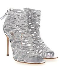 Casadei - Sandals 1l640 Nappa Leather Stretch Strass Silver - Lyst