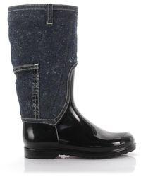 Dolce & Gabbana Boots Denim Gum Black Blue