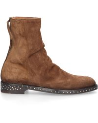 Elia Maurizi Ankle Boots Fox Suede - Brown