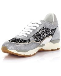 Philippe model Sneakers City Bassa leather silver finished fabric black white Discount Footaction Discounts Sale Online Buy Cheap Visit Sale With Mastercard Cheap Outlet Locations ND4J01BZ