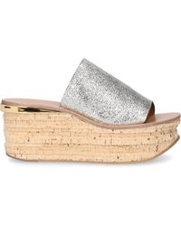 Chloé Platform Sandals Camille - Gray