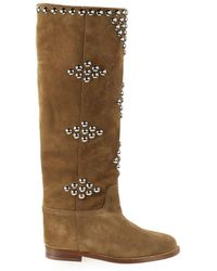 Via Roma 15 Boots Flat 3500 - Brown