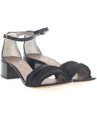 Agl Attilio Giusti Leombruni - Sandals D631052 Satin Black Patent Leather - Lyst
