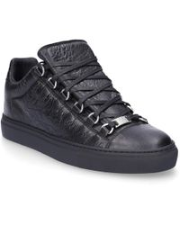 25e6e45cd5c94 Lyst - Balenciaga Sneakers Arena High Leather Black Embossed in ...