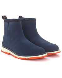 Swims | Ankle Boots Storm Nubuck Leather Blue | Lyst