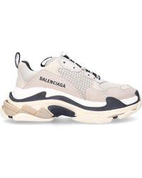 Balenciaga - Sneaker TRIPLE S Kalbsleder Mesh beige-kombi - Lyst