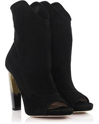 Jimmy Choo Ankle Boots Calfskin Suede Black