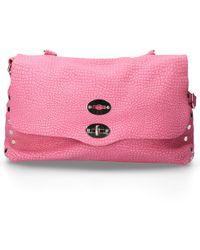 Zanellato Women Handbag Desert Leather Embossment Logo Pink