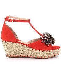Elie Saab Platform Sandals - Red