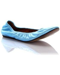 Lanvin - Ballerinas Lackleather Blue - Lyst