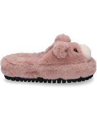 Dolce & Gabbana Schuhe Hausschuhe PELUCHE altrosa - Pink