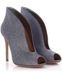 Gianvito Rossi - Heeled Peep Toes Glitter Glitter Grey Silver - Lyst