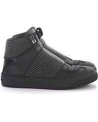 Jimmy Choo - Sneakers Black Logo Rivets Black - Lyst