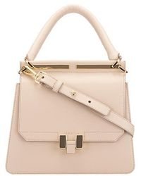 Maison Héroïne Handbag Marlene Tablet Mini Calfskin - Natural