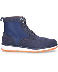 Swims Men's Motion Wing-tip Boots - Blue