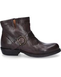 Fiorentini + Baker - Ankle Boots Chad Smooth Leather Decorative Buckle Anthracite - Lyst