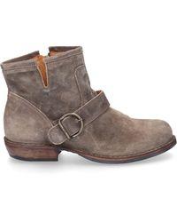 Fiorentini + Baker Schuhe Stiefeletten CHAD Veloursleder beige - Natur