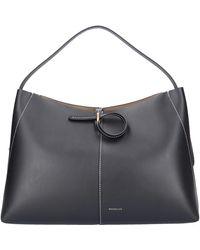Wandler Handbag Ava Medium Calfskin - Black