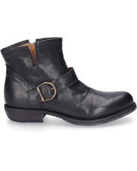 Fiorentini + Baker Schuhe Stiefeletten CHAD Glattleder schwarz